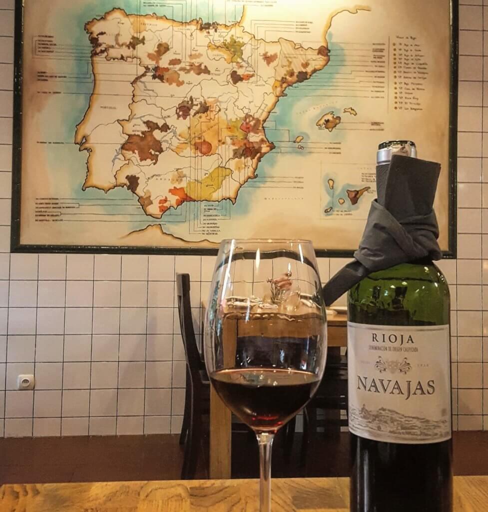 Hiszpańskie regiony winiarskie namapie iwino Rioja